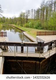 Gateways sluice  on the Augustow Canal, Poland.