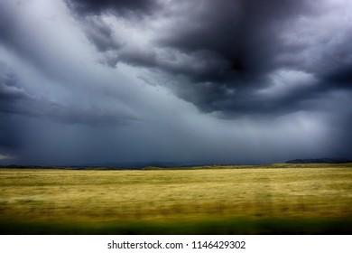 gathering thunderstorm in Wyoming