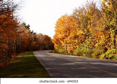 Gatineau Park Road in October