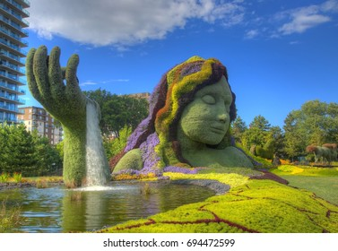 GATINEAU, QUEBEC - AUGUST 6, 2017: Featuring 33 horticultural works of art, MosaiCanada 150 is the signature event of the celebrations in 2017 of Canada's 150 years of history.
