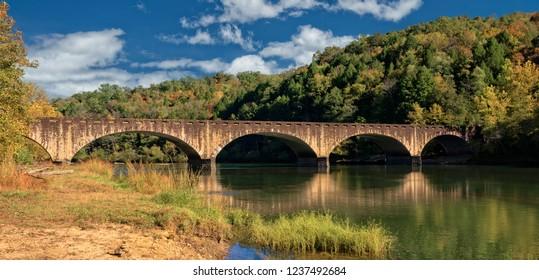 The Gatliff Bridge In Cumberland State Park In Corbin Kentucky