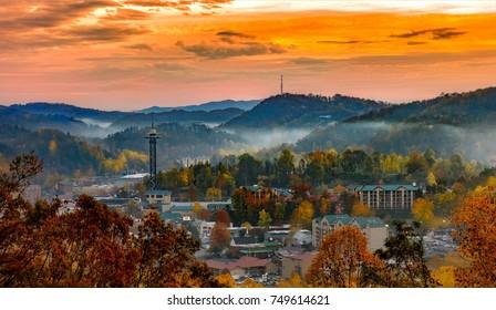 Gatlinburg cityscape