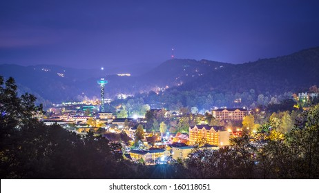 Gatlinburg, Tennessee in the Great Smoky Mountains.