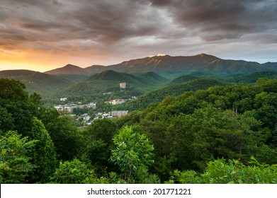 Gatlinburg Tennessee Sevier County Mountain Resort Town in the Great Smoky Mountains