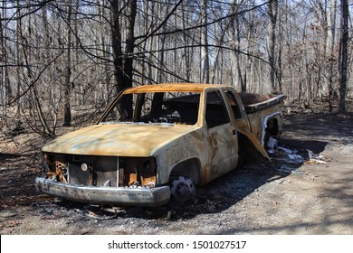 Gatlinburg, Tennessee-March 4,2017: Gatlinburg fires take over a lot of the residential areas and cars in and around Gatlinburg, Tennessee.