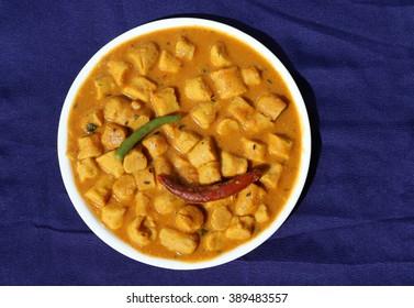 Gatta curry or gatte ki sabji or gatte ki saag - Indian style tasty curry