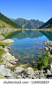 Gaube lake in Pyrenees mountain,France.