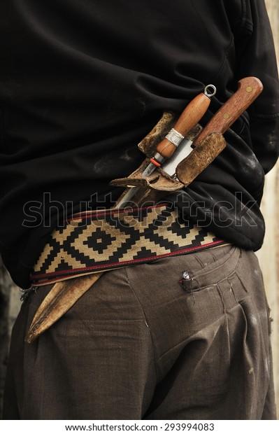 Gaucho Traditional Cowboy Latin America Silver Stock Photo