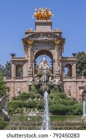 Gaudi Fountain in the Parc de la Ciutadella in Barcelona, Spain