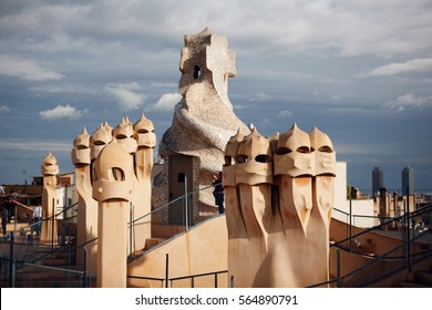 Gaudi sculptures from Barcelona.