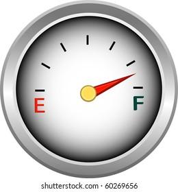 Gauge for measure of fuel or money illustration