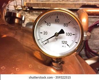 gauge on copper tank