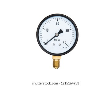 Gauge of pressure on white