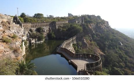 Gaumukh Kund in Chittorgarh fort in Rajasthan, India.