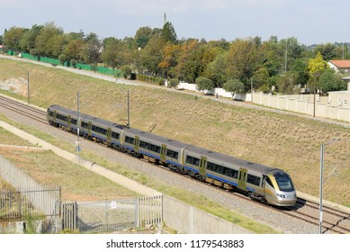 Gautrain is the fastest train system in South Africa operating between Pretoria and Johannesburg, November 2017, Johannesburg, South Africa