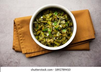Gavarfali or gawar or Gavar sabzirecipe made usingcluster beansin gravyor dry fry