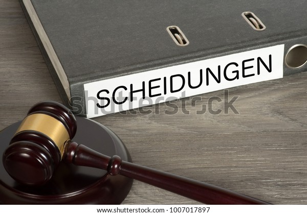 Gavel Folder German Word Divorce Stock Photo (Edit Now) 1007017897