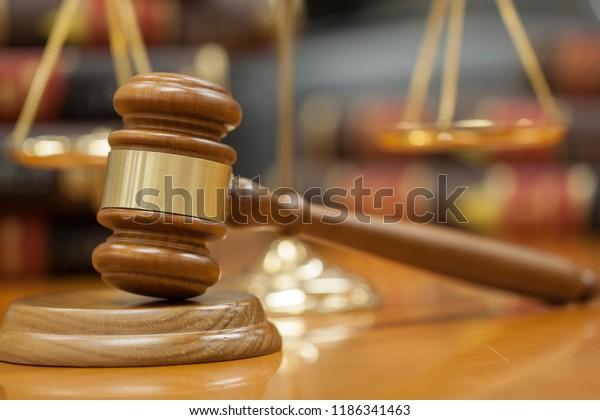 Gavel law and balance law many book legel Law Legel concept.