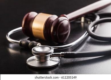 Gavel and stethoscope.