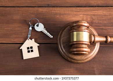Gavel wooden and house for home buying