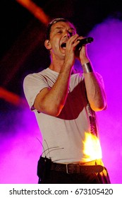 """Gavin Rossdale and the band """"Bush"""" perform on day 2 of the 2017 Temecula Valley Wine and Balloon Festival on June 3, 2017 at the Lake Skinner Recreation Area in Temecula, CA."""
