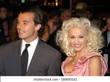 Gavin Rossdale and Gwen Stefani at the premiere of THE AVIATOR, Los Angeles, CA, December 1, 2004