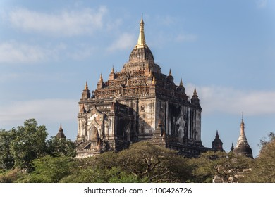 Gawdawpalin temple, Bagan, Myanmar. Pagan (Bagan) is the world's largest temple complex. The area of old Bagan.