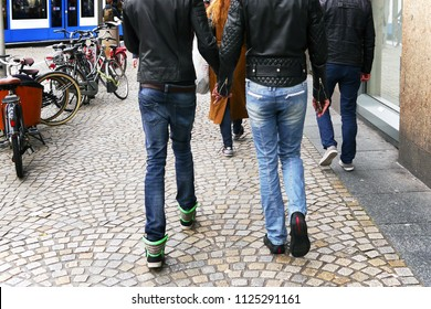 Homosexual walking down the street
