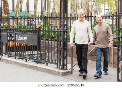 Gay Couple Visiting New York City