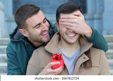 Gay man popping the question