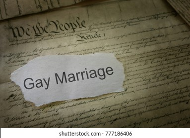 Gay Marriage news headline on US Constitution