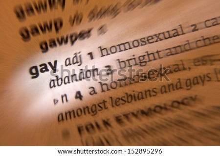 Homosexual meaning in english
