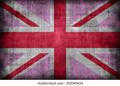 Gay Pride flag of the United Kingdom , retro vintage style