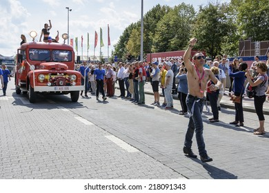 Gay Pride - is held each year in the center of the city. Antwerp has become one of European gayest cities and its pride march has grown steadily over the years - Belgium, Antwerp - August 09, 2014