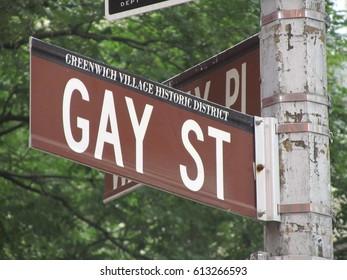 Gay Street Sign at Manhattan