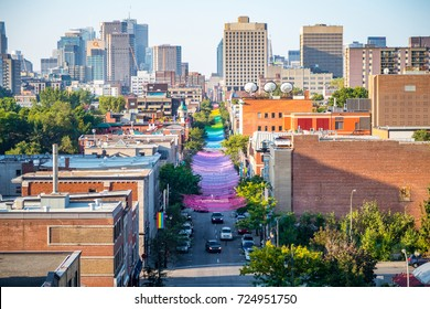 Gay village, Montreal, Quebec, Canada