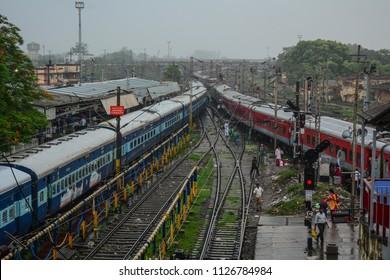 Gaya, India - Jul 10, 2015. Railway station in Gaya, India. Gaya is a holy city beside the Falgu River, in the northeast state of Bihar.