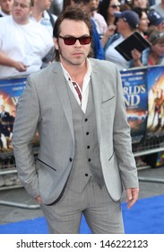 Gaz Coombes arriving for The World's End World Premiere, at Empire Leicester Square, London. 10/07/2013