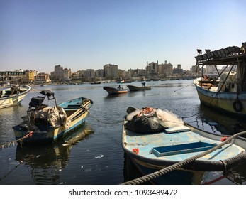 Gaza strip, Palestine.07.02.17.Fishermen return to the seaport after work.