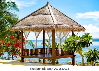 gazebo with on the beach fronet