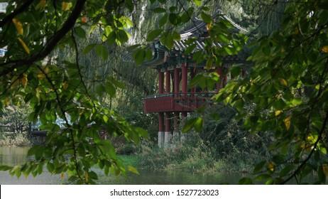 gazebo on the lake, healing and take a rest place Garden, korea gazebo.