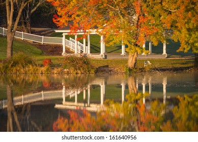 Gazebo reflected in Lake