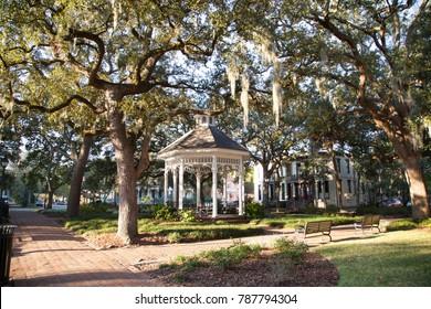 Gazebo in a square in historic Savannah