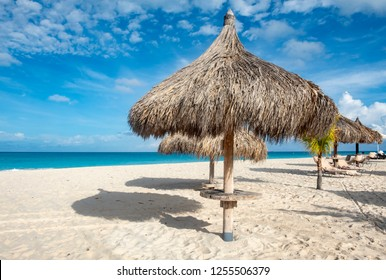 Gazebos on a Caribbean Beach