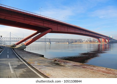Gazela Bridge Over Sava River in Belgrade