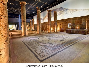 GAZIANTEP - TURKEY / 05.07.2016: The world's largest mosaic museum, the Zeugma Mosaic Museum has been drawing thousands of people