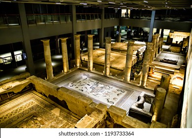 Gaziantep / Turkey - 9/29/2018: Gaziantep Zeugma Mosaic Museum complex structural requirements both in terms of the works are among the most important museums in the world.