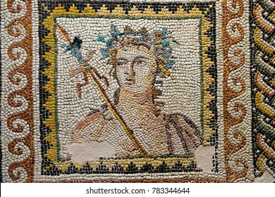 GAZIANTEP, TURKEY - DECEMBER, 15 2017: Zeugma Mosaic  Museum,one of the largest mosaic collection in the world.The ancient city of Zeugma is known to have been founded by Alexander the Great in 300BC