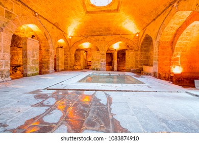 GAZIANTEP, TURKEY - MARCH 21, 2018: Gaziantep Pisirici ancient Turkish bath  and masjid - Sahinbey