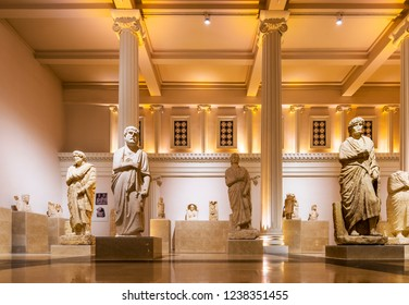 Gaziantep, Turkey - November 16, 2018 : Gaziantep Archaeology Museum interior view in Gaziantep City of Turkey.